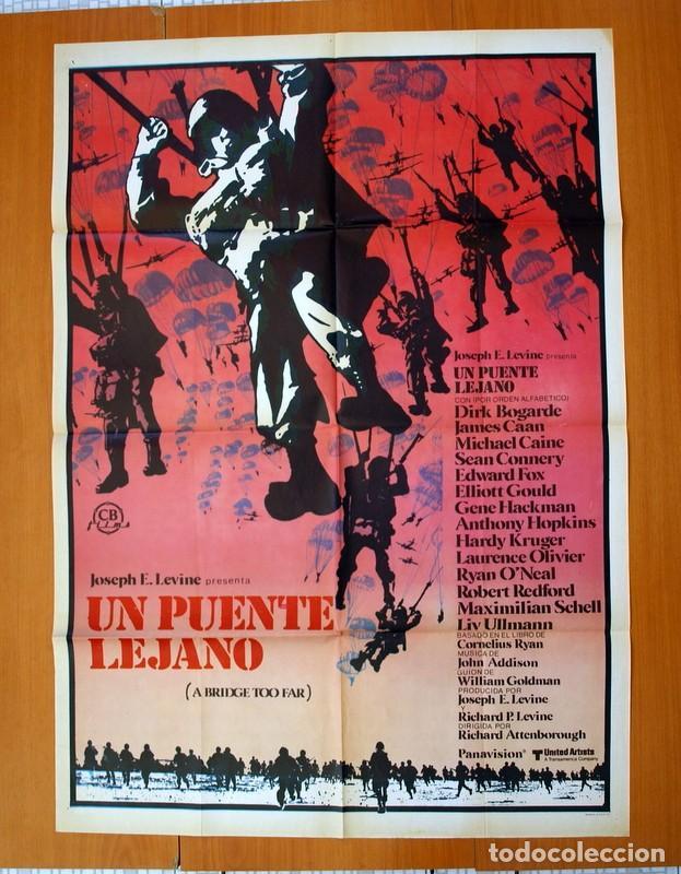 UN PUENTE LEJANO - CARTEL TAMAÑO 100X70 - SEAN CONNERY, MICHAEL CAINE, LAURENCE OLIVIER (Cine - Posters y Carteles - Bélicas)