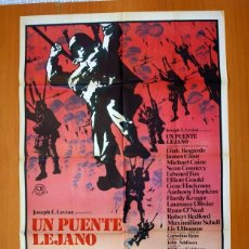 Cine: UN PUENTE LEJANO - CARTEL TAMAÑO 100X70 - SEAN CONNERY, MICHAEL CAINE, LAURENCE OLIVIER. Lote 89185188
