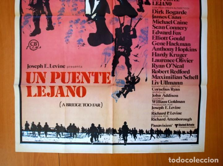 Cine: Un puente lejano - Cartel tamaño 100x70 - Sean Connery, Michael Caine, Laurence Olivier - Foto 3 - 89185188
