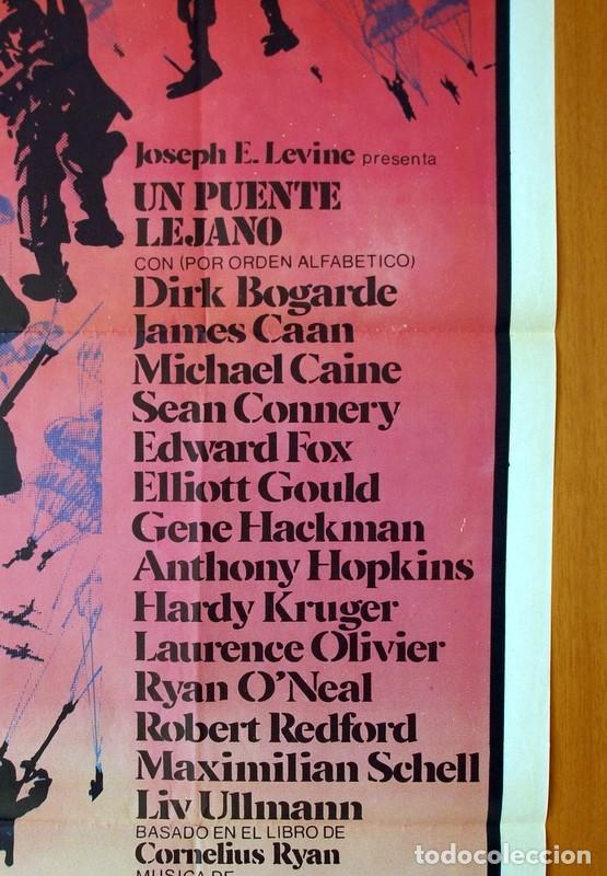 Cine: Un puente lejano - Cartel tamaño 100x70 - Sean Connery, Michael Caine, Laurence Olivier - Foto 4 - 89185188