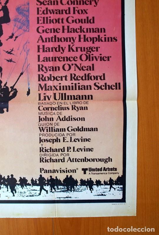 Cine: Un puente lejano - Cartel tamaño 100x70 - Sean Connery, Michael Caine, Laurence Olivier - Foto 5 - 89185188