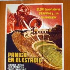 Cine: PANICO EN EL ESTADIO - CARTEL TAMAÑO 100X70 - CHARLTON HESTON Y JOHN CASSAVETES. Lote 89188792