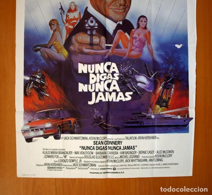 Cine: Nunca digas nunca jamas - Cartel tamaño 100x70 - Sean Connery - Foto 3 - 89189248
