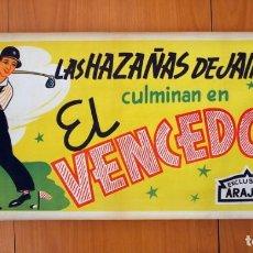 Cine: HAZAÑAS DE JAIMITO - EL VENCEDOR - CARTEL TAMAÑO 34X70 - EXCLUSIVAS ARAJOL. Lote 89190220