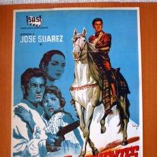 Cine: DIEGO CORRIENTES - DIBUJADO POR SOLIGÓ - CARTEL TAMAÑO 100X70 - JOSE SÚAREZ Y MARISA DE LEZA. Lote 89191032