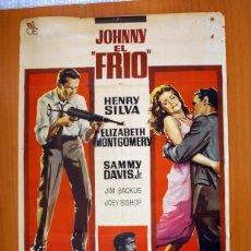 Cine: JOHNNY EL FRIO - CARTEL DIBUJADO POR SOLIGO - TAMAÑO 100X70 - HENRY SILVA Y ELIZABETH MONTGOMERY. Lote 89191372
