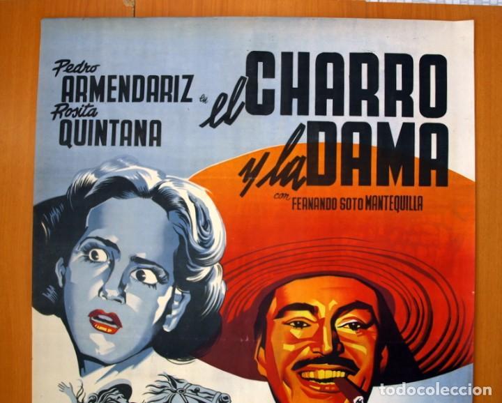 Cine: El charro y la dama - Cartel tamaño 98x68 - Pedro Armendariz y Rosita Quintana - Foto 2 - 89193016