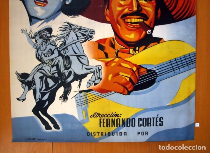 Cine: El charro y la dama - Cartel tamaño 98x68 - Pedro Armendariz y Rosita Quintana - Foto 3 - 89193016