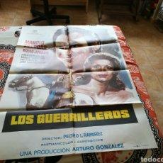 Cine: CARTEL GRANDE ORIGINAL DE CINE DE LA PELÍCULA LOS GUERRILLEROS. MANOLO ESCOBAR Y ROCÍO JURADO. 1977. Lote 89365246