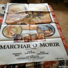 Cine: CARTEL GRANDE ORIGINAL DE CINE DE LA PELÍCULA MARCHAR O MORIR. Lote 89368831