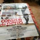 Cine: CARTEL GRANDE ORIGINAL DE CINE DE LA PELÍCULA. CORAZÓN DE PERRO. AÑOS 70. Lote 89369176