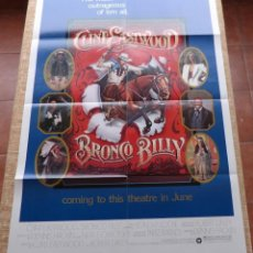 Cine: BRONCO BILLY MOVIE POSTER, FOLDED, ORIGINAL, ONE SHEET, YEAR 1980, PRINTED IN U.S.A., ADVANCE. Lote 89634176
