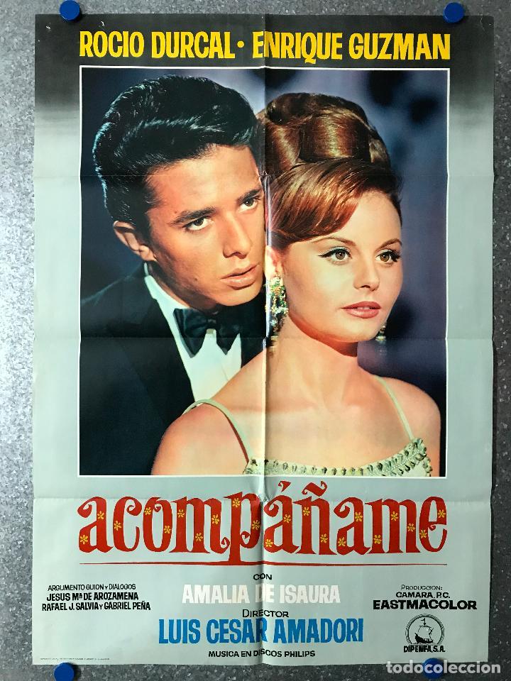 ACOMPAÑAME - ROCIO DURCAL, ENRIQUE GUZMAN - AÑO 1966 (Cine - Posters y Carteles - Clasico Español)