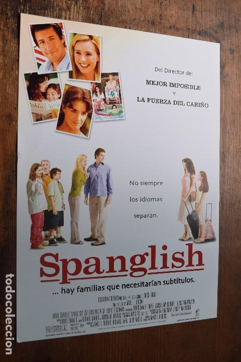 CARTEL DE SPANGLISH, ADAM SANDLER, TEA LEONI, PAZ VEGA (Cine - Posters y Carteles - Comedia)
