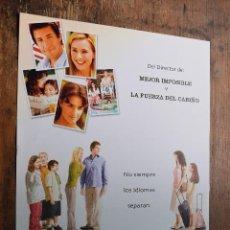 Cine: CARTEL DE SPANGLISH, ADAM SANDLER, TEA LEONI, PAZ VEGA. Lote 90785660