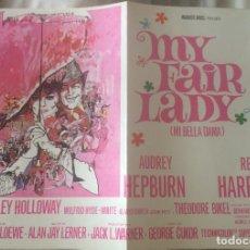 Cine: 'MY FAIR LADY', CON AUDREY HEPBURN. PÓSTER APAISADO. 30 X 40 CM.. Lote 91015015