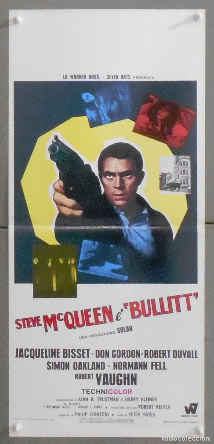QS14D BULLITT STEVE MCQUEEN POSTER ORIGINAL ITALIANO 33X70 (Cine - Posters y Carteles - Acción)