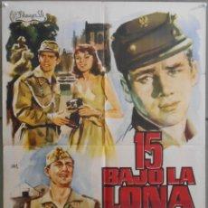 Cine: XW11 15 BAJO LA LONA CARLOS LARRAÑAGA ALFREDO MAYO ANTONIO OZORES POSTER ORIGINAL 70X100 ESTRENO. Lote 182950133
