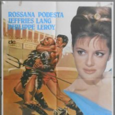 Cine: XW26 SOLO CONTRA ROMA ROSSANA PODESTA LANG JEFFRIES PEPLUM POSTER ORIGINAL 60X80 ESPAÑOL. Lote 91379085