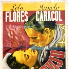 Cine: CARTEL POSTER ORIGINAL *EMBRUJO* LOLA FLORES MANOLO CARACOL FERNANDO FERNAN GOMEZ. Lote 91385385