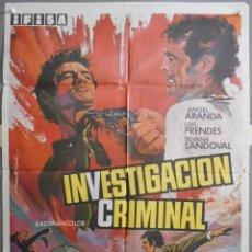 Cine: XW30 INVESTIGACION CRIMINAL JUAN BOSCH ANGEL ARANDA POSTER ORIGINAL 70X100 ESTRENO. Lote 91386735