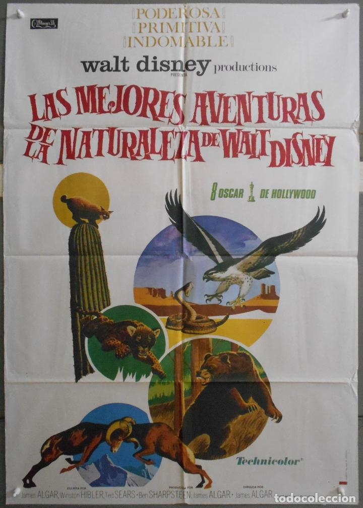 XW65 LAS MEJORES AVENTURAS DE LA NATURALEZA WALT DISNEY DOCUMENTAL POSTER ORIGINAL 70X100 ESTRENO (Cine - Posters y Carteles - Documentales)
