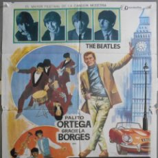 Cine: XX05 EL REY EN LONDRES PALITO ORTEGA THE BEATLES THE ANIMALS POSTER ORIGINAL 70X100 ESTRENO. Lote 91388335