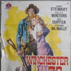 Cine: XX02 WINCHESTER 73 JAMES STEWART POSTER ORIGINAL 70X100 ESPAÑOL. Lote 91438020