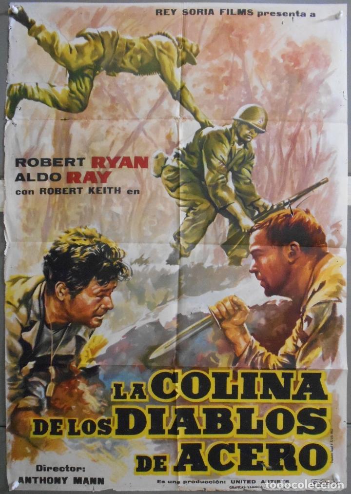 XW95 LA COLINA DE LOS DIABLOS DE ACERO ANTHONY MANN ROBERT RYAN POSTER ORIGINAL 70X100 ESTRENO (Cine - Posters y Carteles - Bélicas)