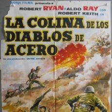Cine: XW96 LA COLINA DE LOS DIABLOS DE ACERO ANTHONY MANN ROBERT RYAN POSTER ORIGINAL 70X100 ESTRENO. Lote 91441110