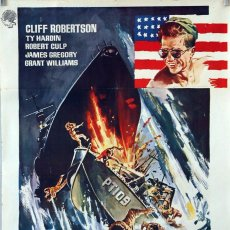 Cine: PATRULLERO PT 109. CLIFF ROBERTSON. CARTEL ORIGINAL 1963. 70X100. Lote 91522330