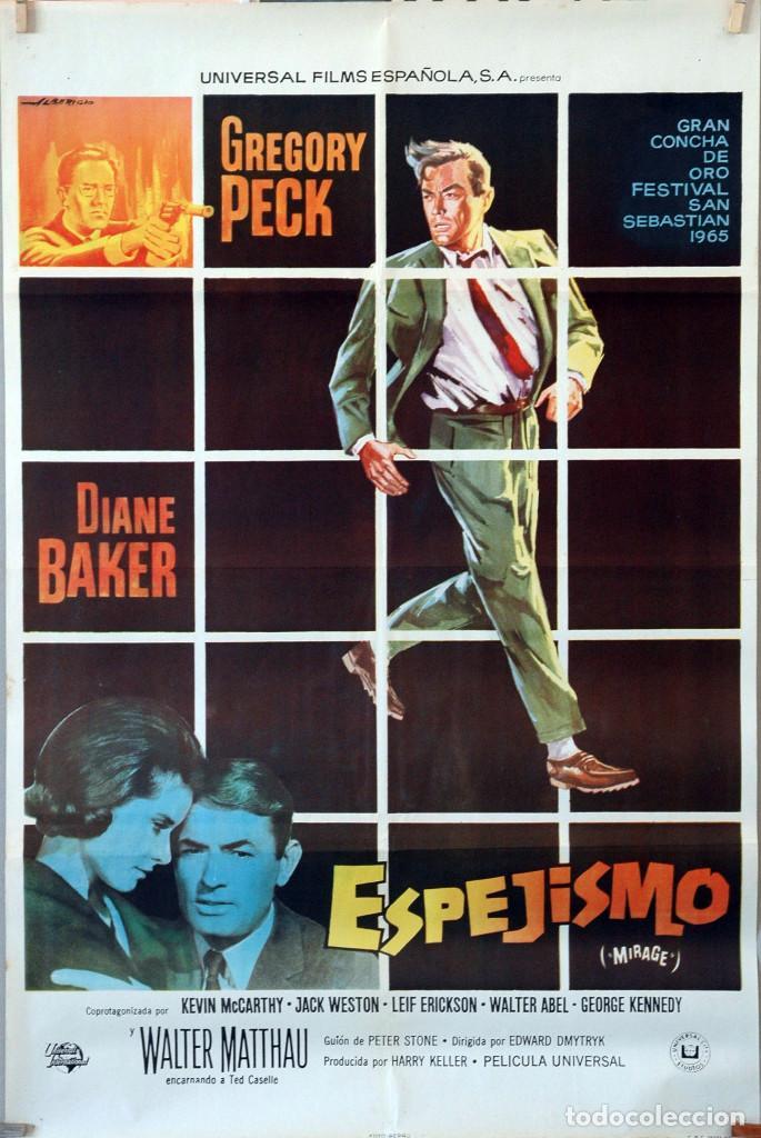 ESPEJISMO. GREGORY PECK-DIANE BAKER. CARTEL ORIGINAL 1965. 70X100 (Cine - Posters y Carteles - Acción)