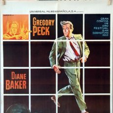 Cine: ESPEJISMO. GREGORY PECK-DIANE BAKER. CARTEL ORIGINAL 1965. 70X100. Lote 91522565