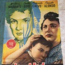 Cine: 'MATERNIDAD IMPOSIBLE', CON MARÍA ELENA MARQUÉS. PÓSTER ORIGINAL DE CINE AÑO 1955. 1 M X 70 CM.. Lote 91533955
