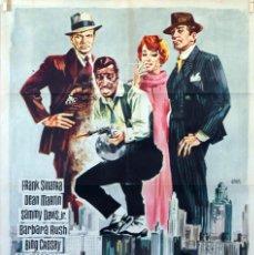 Cine: 4 GÁNGSTERS DE CHICAGO. FRANK SINATRA-DEAN MARTIN. CARTEL ORIGINAL 1965. 70X100. Lote 91603775