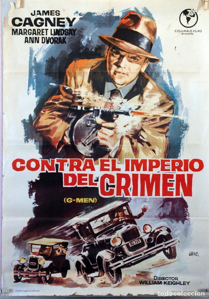 CONTRA EL IMPERIO DEL CRIMEN. JAMES CAGNEY. CARTEL ORIGINAL 1965. 70X100 (Cine- Posters y Carteles - Drama)
