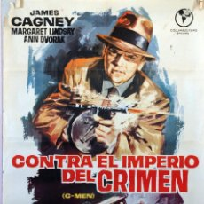 Cine: CONTRA EL IMPERIO DEL CRIMEN. JAMES CAGNEY. CARTEL ORIGINAL 1965. 70X100. Lote 91604100