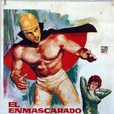 Cine: EL ENMASCARADO CONTRA EL ASESINO INVISIBLE. RENE CARDONA. CARTEL ORIGINAL 1965. 70X100. Lote 113357263