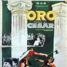 Cine: ORO PARA EL CÉSAR. ANDRÉ DE TOTH. CARTEL ORIGINAL 1964. 70X100. Lote 91605340