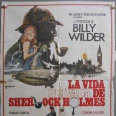 Cine: XW61 LA VIDA PRIVADA DE SHERLOCK HOLMES BILLY WILDER POSTER ORIGINAL 70X100 ESTRENO. Lote 91703125