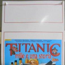 Cine: XW58 TITANIC THE ANIMATED MOVIE ANIMACION POSTER ORIGINAL ITALIANO 33X70. Lote 91724655