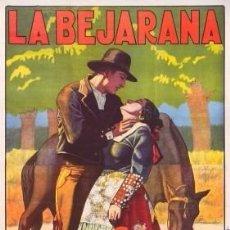 Cine: (M) CARTEL ANTIGUO - LA BEJARANA GRAN PELICULA CELEBRE ZARZUELA DE ARDAVIN, SERRO Y ALONSO 1926. Lote 92922670