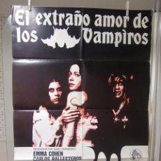 Cine: CARTEL CINE ORIG EL EXTRAÑO AMOR DE LOS VAMPIROS (1975) 70X100 / LEON KLIMOVSKI. Lote 93036985