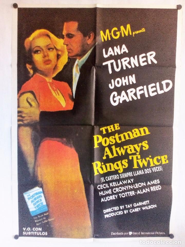 THE POSTMAN ALWAYS RINGS TWICE (EL CARTERO SIEMPRE LLAMA DOS VECES)CARTEL100X70 ORIGINAL GARANTIZADO (Cine - Posters y Carteles - Suspense)