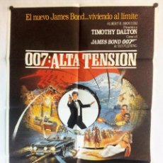 Cine: 007 ALTA TENSION JAMES BOND TIMOTHY DALTON POSTER ORIGINAL DEL ESTRENO 70X100. Lote 93593120