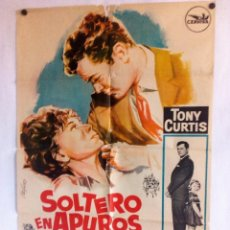Cine: SOLTERO EN APUROS TONY CURTIS CARTEL ORIGINAL DEL ESTRENO 70X100. Lote 93596240