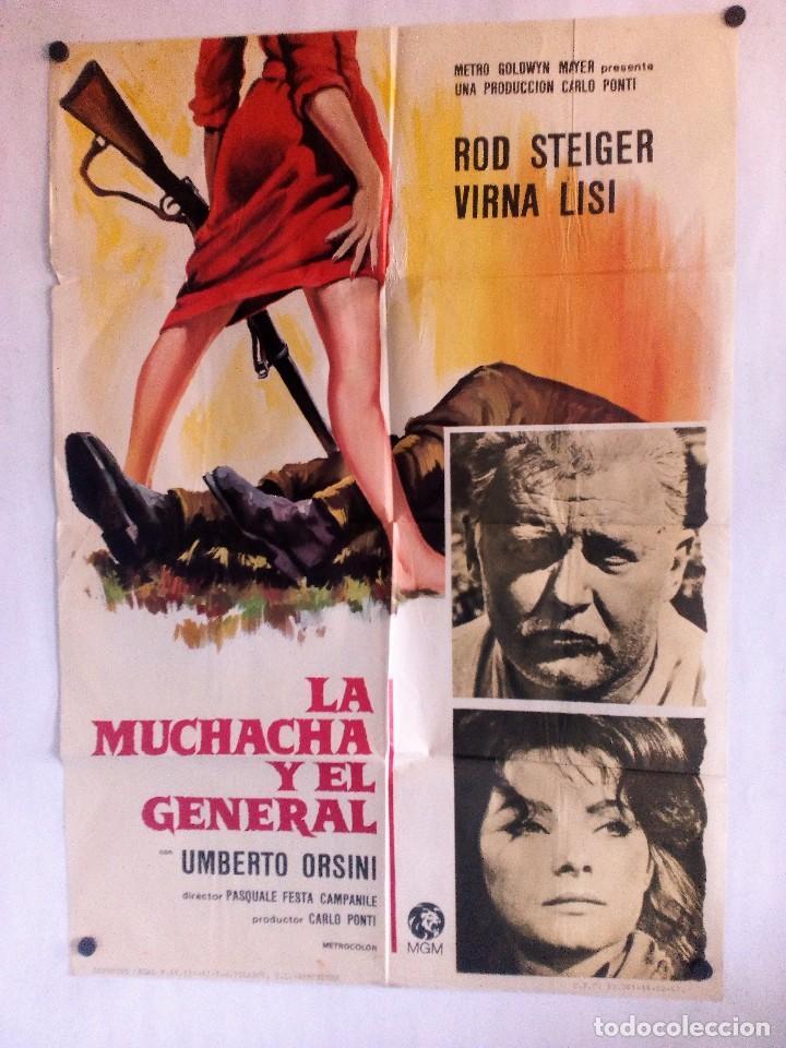 LA MUCHACHA Y EL GENERAL CARTEL ORIGINAL DEL ESTRENO 70X100 (Cine - Posters y Carteles - Bélicas)