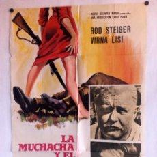 Cine: LA MUCHACHA Y EL GENERAL CARTEL ORIGINAL DEL ESTRENO 70X100. Lote 93597065