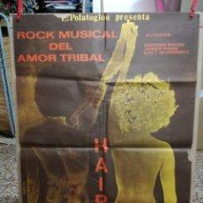 Cine: HAIR.CARTEL.ROCK MUSICAL DEL AMOR TRIBAL.. Lote 93816150