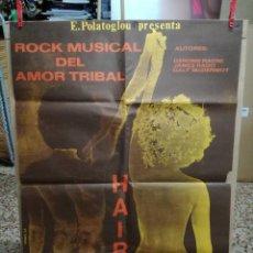 Cine: HAIR.CARTEL.ROCK MUSICAL DEL AMOR TRIBAL.. Lote 93816230